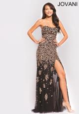 Jovani 79025.  Available in Black, Nude, Red