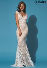 Jovani 90897.  Available in Black/Nude, Coral/Nude, White/Nude