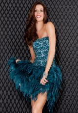 Jovani Cocktail 5800.  Available in Teal