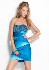 Jovani Cocktail 7524.  Available in Blue