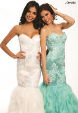 Jovani 22295.  Available in Aqua, Off White, Pink