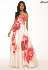 Jovani 23925.  Available in White/Red