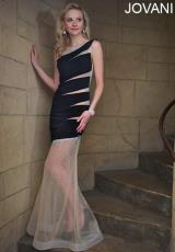 Jovani 93137.  Available in Black/Nude