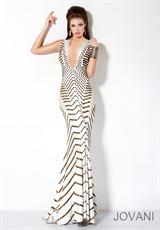Jovani 9420.  Available in Black/Gold, Ivory/Gold