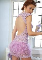 Jovani Cocktail 171924.  Available in Black/Nude, Lilac/Nude, White/Nude