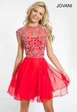 Jovani Cocktail 21475.  Available in Blush, Red, Royal
