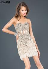 Jovani Cocktail 73519.  Available in Champagne