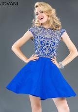 Jovani Cocktail 89466.  Available in Royal/Silver, Turquoise/Silver