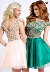 Jovani Cocktail 94228.  Available in Emerald, Light Blue, Nude, Peach