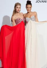 Jovani 7017.  Available in Nude, Red