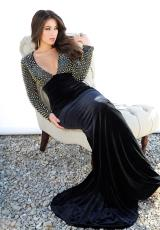 Jovani 92473.  Available in Black/Gold