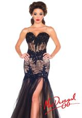 MacDuggal 10000M.  Available in Black/Nude, Red/Nude