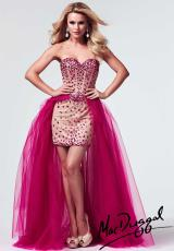 MacDuggal 10004M.  Available in Fuchsia/Nude, Purple/Nude