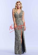 MacDuggal Cocktail 4115M.  Available in Ivory/Gold, Midnight, Platinum/Gold
