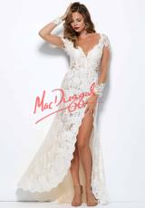 MacDuggal Cocktail 48299R.  Available in Black/Nude, Ivory/Nude