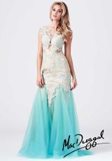 MacDuggal 61567M.  Available in Aqua/Nude, Nude/Silver