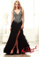 MacDuggal 61631M.  Available in Black/Silver, Nude/Silver