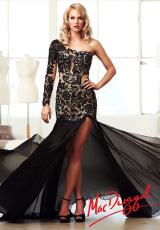 MacDuggal 61674M.  Available in Black/Nude, Fuchsia/Nude
