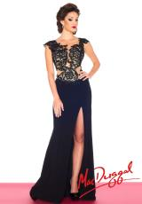 MacDuggal 61701R.  Available in Black/Nude, Sapphire