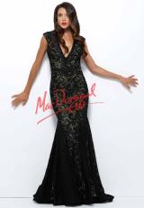 MacDuggal 61930R.  Available in Black/Nude, Ivory/Nude, Red, Sapphire/Nude