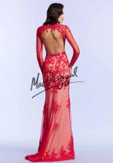 MacDuggal 62062M.  Available in Aqua/Nude, Ivory/Nude, Red