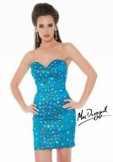 MacDuggal Cocktail 64546N.  Available in Peacock/Multi