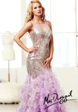 MacDuggal 64736H.  Available in Ivory/Gold, Lilac/Nude
