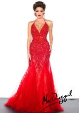 MacDuggal 81896R.  Available in Ivory/Nude, Red/Nude