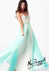 MacDuggal 81980M.  Available in Aqua/Nude, Ice Pink/Nude