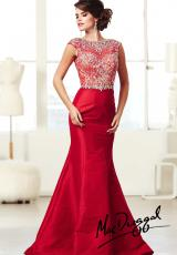 MacDuggal 82066M.  Available in Black/Nude, Cobalt, Red/Nude