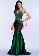 MacDuggal Cocktail 82303M.  Available in Emerald, Royal/Purple