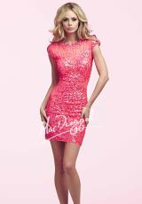 MacDuggal Cocktail 4014N.  Available in Hot Pink, Peacock/Nude