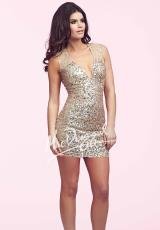 MacDuggal Cocktail 4037N.  Available in Champagne, Twilight