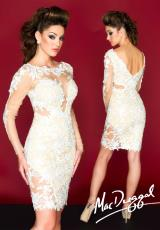 MacDuggal 61555R.  Available in Ivory/Nude, Sapphire/Nude