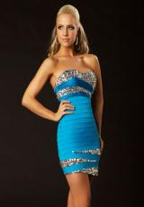 MacDuggal Cocktail 61159D.  Available in Turquoise