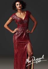 MacDuggal Couture 85202D.  Available in Mocha, Red/Nude