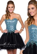 Milano Formals E1719.  Available in Black/Turquoise