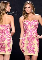Milano Formals E1685.  Available in Fuchsia/Nude
