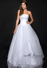 Milano Formals E1028.  Available in White