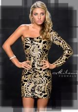 Milano Formals E1697.  Available in Black/Gold