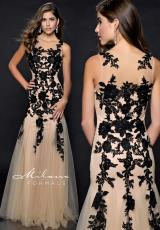 Milano Formals E1780.  Available in Black/Nude