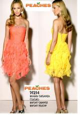 Mori Lee Sticks & Stones 91214.  Available in Bright Yellow