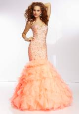 Mori Lee 95076.  Available in Coral