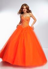 Mori Lee 95111.  Available in Orangeburst, Peacock