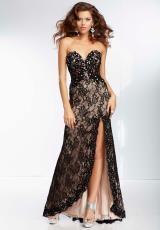 Mori Lee 95126.  Available in Black/Nude, Champagne