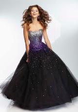 Mori Lee 95128.  Available in Blk/Bronze, Blk/Fuchsia, Blk/Purple, Blk/Turquoise