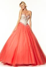 Mori Lee 97017.  Available in Champagne/Blush, Champagne/Coral, Champagne/Mint