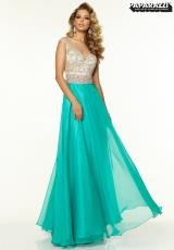 Mori Lee 97092.  Available in Green/Nude, White/Nude