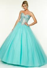 Mori Lee 97125.  Available in Aqua/Nude, Fuchsia/Nude