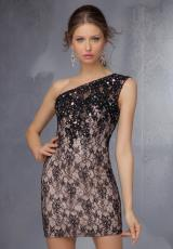 Mori Lee Sticks & Stones 9271.  Available in Black/Nude, Royal/Nude